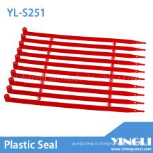 Sello de plástico sellado de seguridad con bloqueo automático (YL-S251)