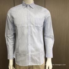 Camisa masculina listrada de fio tingido