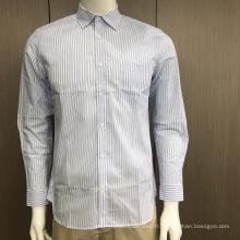 Chemise rayée teinte en fil masculin