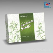 Caja de empaquetado de papel de los jabones de lujo rígidos modificada para requisitos particulares al por mayor para el jabón hecho a mano natural