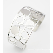 Hollow Wide Cuff Stainless Steel Fashion Bracelet For Women's