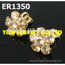 flower designs crystal earrings