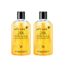 Wholesale OEM/ODM Private Label Skincare Improve Skin Dryness Gentle Cleaning 24K Pure Gold Moisturize Skin Smooth Gold Bath Gel