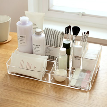 Clear Acrylic Makeup Organizer Lipstick Brushes Holder