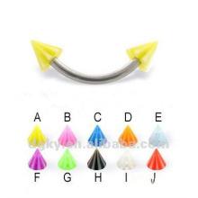 Moda piercing jóias anéis falsos sobrancelha