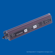 IP67 Waterproof LED Driver 40W DC12V pour lampe LED