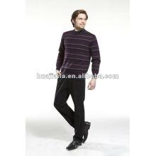 Camisola de confecção de malha masculina de moda masculina
