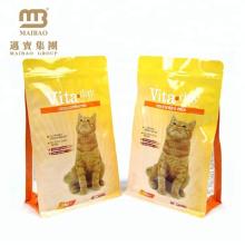 Preço de Fábrica de alta Qualidade Padrão Alimentar Embalagem de Ração Animal Personalizado Folha De Alumínio Pet Food Bag Para O Gato