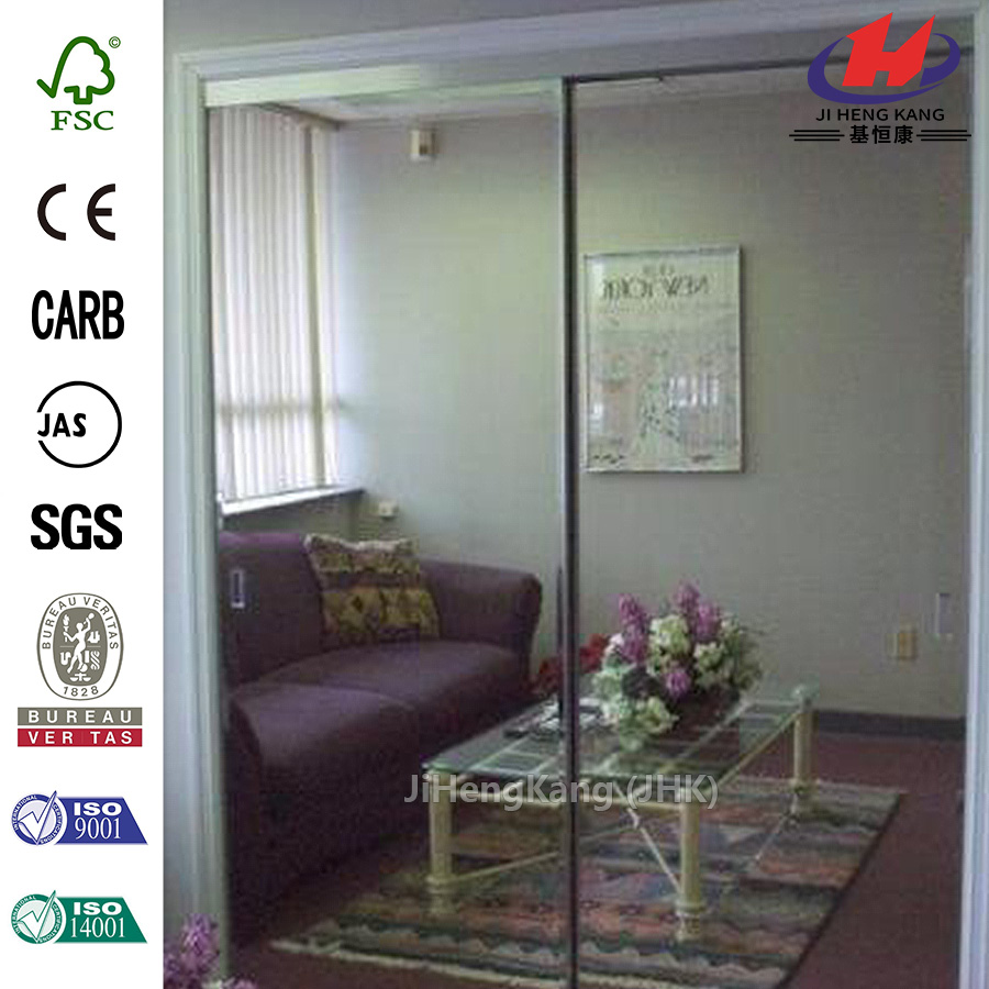 2-Panel Frameless Folding Glass Lobby Door