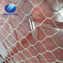 cage d'oiseau de zoo maille de corde d'acier inoxydable maille flexible de câble