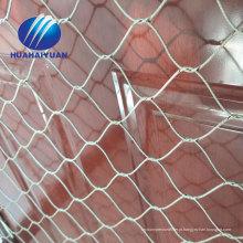 gaiola de pássaro do jardim zoológico malha de arame de aço inoxidável malha do cabo flexível