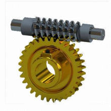 Worm Gear and Shaft, Made of Aluminum, Fire Suppression System Components