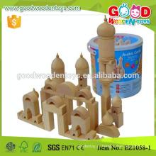 EZ1058 Natural Color Fantasy Арабский замок Building Block Set