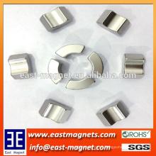 Ni recubierto de alta calidad de arco de segmento neodimio Magnet Usado en el motor