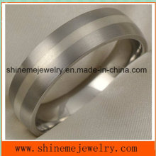 Jóias Shineme Real Silver Inlay Jóias Titanium Ring (TR1833)