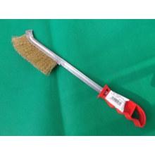 Cepillo de alambre de acero de mango largo de plástico