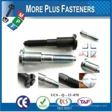 Hecho en Taiwán Special Shoulder Screw Special Fastener Parts Tornillo personalizado por requerimiento de dibujo
