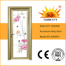 Modern Style Aluminum Alloy Frame Glass Door Prices (SC-AAD051)