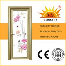 Preços de vidro modernos da porta do quadro da liga de alumínio do estilo (SC-AAD051)