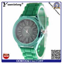 Yxl-266 Men′s Fashion Quartz Watch Analog Design Silicone Luxury Round Dial Watch Sport Casual Men Women Girl Dress Watches