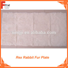 Pure White Rex Rabbit Fur Plate