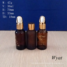 30ml Frosted Amber Glass Dropper Bottles Glass Essential Oil Bottle