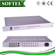 Broadcasting Optical Video Converter of The Transmitting Distance 5-100km, Video, Audio and Data Optical Transceiver