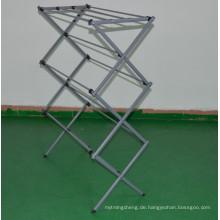 Faltender Kleidermetalltrockenständer-Wäsche-Innenweiß-Kleiderportable hängen trocken