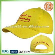 Bordado Promocional Amarillo Gorra De Béisbol BC-0007