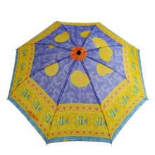 cheap two fold custom printed umbrella