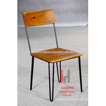 Industrial Vintage Iron Wood Dining Chair