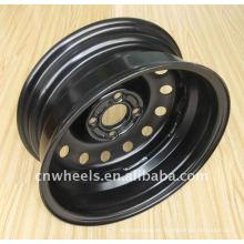 Llantas de neumáticos pequeñas, rueda de acero de remolque 12-16 pulgadas