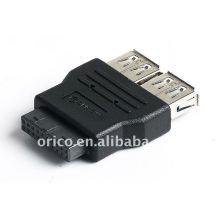 Placa principal 20pin a 2ports convertidor USB3.0 (adaptador)