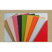 Papel ondulado de cores misturadas de 80GSM