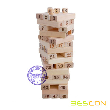 Classic Tumbling Blocks, Jenga Board Team Game Building Blocks Kids