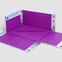 Papel de impressão de qualidade dobrando caixa de presente multiuso de armazenamento com botão de pressão