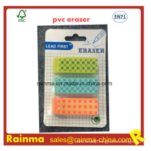 High Quality Beveled PVC Eraser with Nice Design