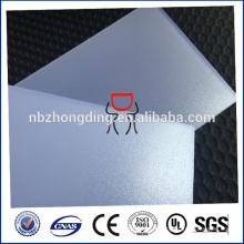 Feuille de papier diffusé légèrement, feuille diffusée en polycarbonate