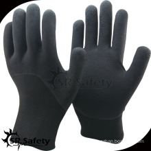 SRsafety Double liner latex foam winter gloves safety glove