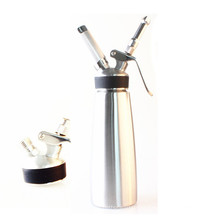 New Whipperior | Food Grade Stainless Steel 1 pint Whipped Cream Dispenser/Cream Whipper with 3 Decorating