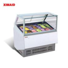 Vitrine de sorvete 12 congelador de panela