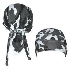 Custom Made Logo Impresso Exército Verde Camuflagem Cotton Head Wrap Ajustável Ciclismo Skulll Bandana Caps