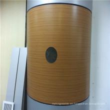 Paneles de panal en forma de arco de textura de bambú para cubrir la columna
