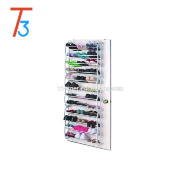 36 pair folding hanging door wall mounted shoe rack