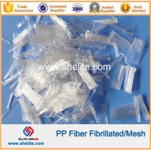 PP Mesh Fibre Polypropylene Fibrillated Fiber for Concrete Additive