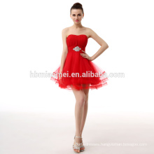 Red Short Off-Shoulder Spanish Style Traditional Formal Latin Evening Dress