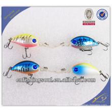 CKL017 50 mm dur appâts manivelle pêche appâts 3d long dur en plastique manivelle appât de pêche leurre
