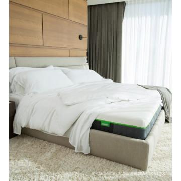 En gros de haute qualité main soyeuse Sentant 300 draps de lit de bambou blanc de compte de fil