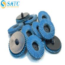 Metal polishing round coated abrasive flap wheel