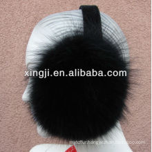 Top quality real dyed fox fur earmuff